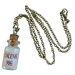 Alice in Wonderland Fairy Glow in the Dark Necklace-Drink me bottle