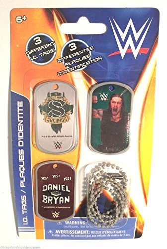 WWE Wrestler Roman Reigns ID Dog Tags - Set E - 3 Count