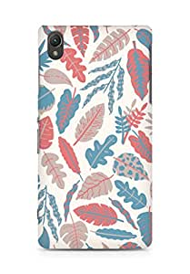 AMEZ designer printed 3d premium high quality back case cover for Sony Xperia Z2 (leaves feathers colourful)