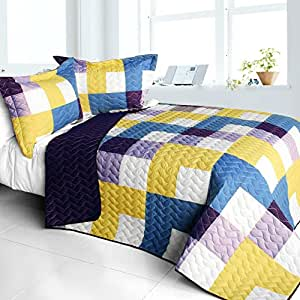 Purple feelings 3pc vermicelli quilted for Quilted kitchen set