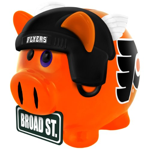 NHL Philadelphia Flyers Resin Large Thematic Piggy Bank - 1