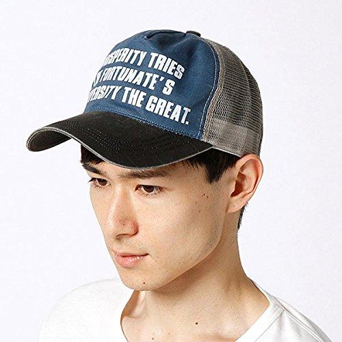 カスターノ(CASTANO) 帽子(メッセージメッシュキャップ)【ブラック/**】