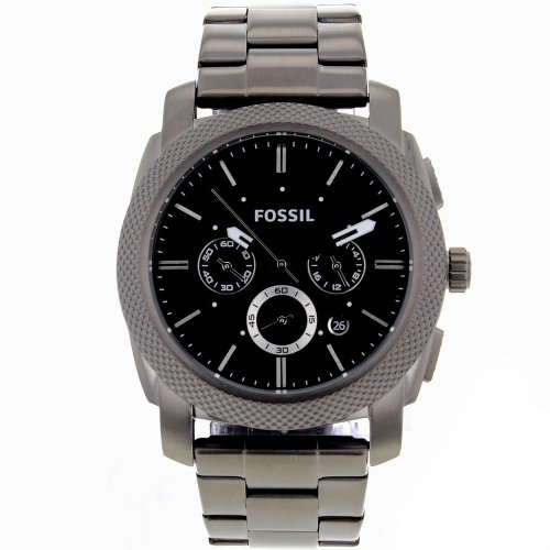 Fossil Men's FS4662 Stainless Steel Analog Black Dial Watch