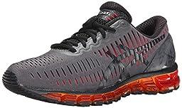 ASICS Men\'s Gel Quantum 360 Running Shoe, Carbon/Black/Orange, 8.5 M US