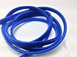 CablesFrLess (TM) 3ft 3.5mm Flat Braided Auxiliary AUX Cable (Blue)