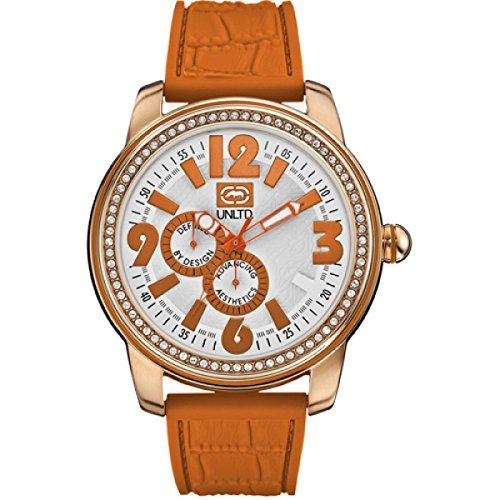 Marc Ecko E13544G1 - Reloj de pulsera unisex, caucho, color naranja