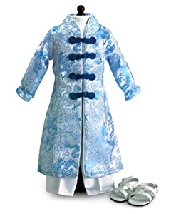 """Vietnamese Ao Dai ~ Outfit & Sandals Fits 18"""" American Girl"""