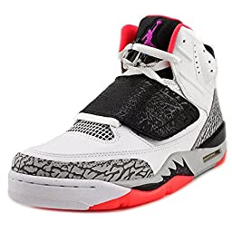 Nike Jordan Men\'s Jordan Son Of White/Fchs Flash/Blck/Wlf Gry Basketball Shoe 11 Men US