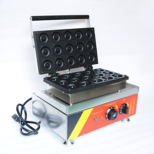 Wotefusi Donut Maker Donut Backer 15 Pieces Electric Doughnut Maker Machine for Commercial Use 110V