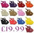 New Ladies Platform High Heel Strappy Ankle Wedge Sandals Sizes UK 3 4 5 6 7 8, Light Orange Size UK 7