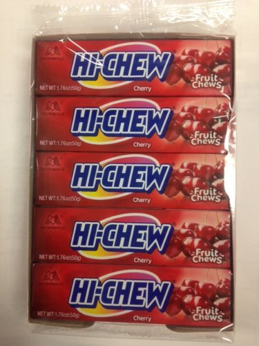 Morinaga Hi-Chew Cherry Candy (Display of 10 Packs)