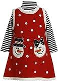 Bonnie Jean Baby-girls Christmas Snowman Holiday Jumper Dress Set