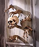 Creepy Hands Black Fingernails Clawing Grabbing Wall Hangers Halloween Haunted House Prop Decor (6 pc 3 clawing 3 grabbing hand)