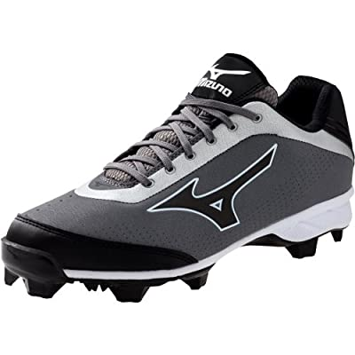 Mizuno Usa Mens 9 Spike Blaze Elite 5 GY BK Baseball Shoe from Mizuno USA
