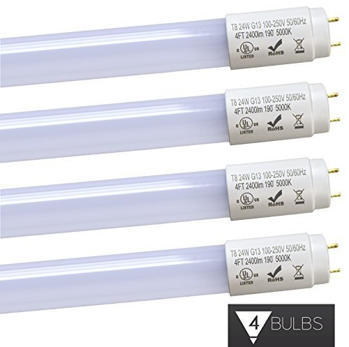 Triangle Bulbs 24W 4 foot T8 LED Tube Lights,