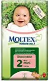 Moltex Nature No1 Eco Nappy Mini Size 2 (3-6 kg/6-13 lb)--Pack of 44 Nappies
