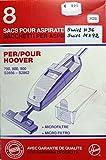 Original Staubsaugerbeutel 333045 für Hoover Handstaubsauger 8 Stück pro Packung passend für Hoover 700,800,900 S 2856 bis S 2862, entsprechen Staubsaugerbeutel Swirl H 36 / MX 92 und der Hoover Original Staubbeutelnummer H 28