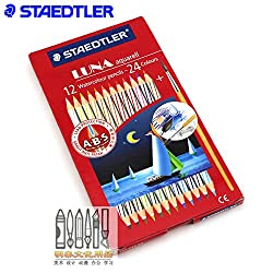 Staedtler Luna Aquarell 12-24 Water Colour Pencils
