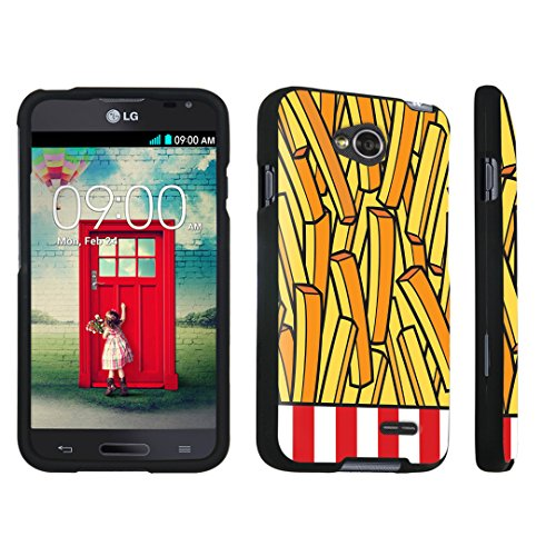 DuroCase LG Optimus L70 / LG Optimus Exceed 2 Hard Case Black - (French Fries) (Lg Optimus L70 Case French Fries compare prices)