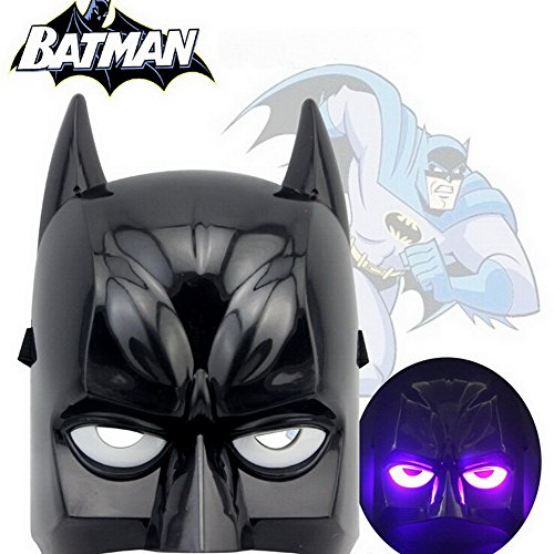 Batman Kids&adult Mask LED Glowing Party Masks Halloween Cosplay Christmas Boy Gift