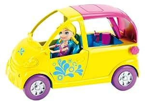 Mattel W6222 - Polly Pocket Poolparty Cabrio, Zubehör