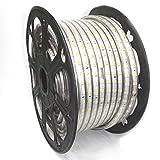 10-Meter-230V-LED-Streifen-warm-wei-10m-Band-Leiste-krzbar-3200K-IP44-Stripe-dimmbar-Licht-gelblich-Lampe-strip-Beleuchtung-fr-aussen-Aussenbereich-Carport-Terrassen-Haus-Unterschlag-Gibel-wasserdicht