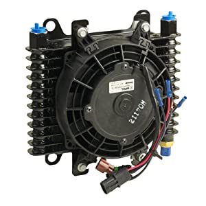 B&M 70298 Hi-Tek SuperCooler Oil Cooler with Fan
