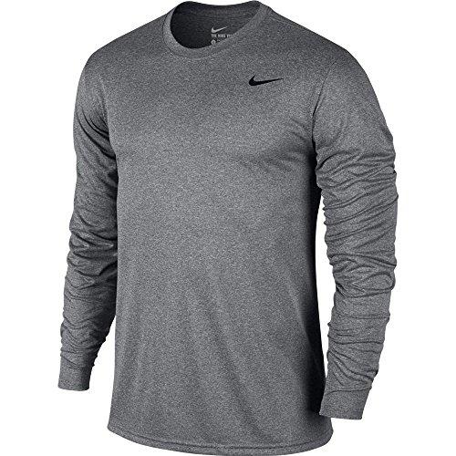 New Nike Men's Legend 2.0 L/S Training Top Carbon Heather/Black/Black X-Large