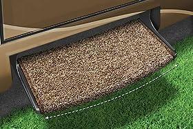 Prest-O-Fit 2-0201 Brown Jumbo Wraparound Radius Step Rug