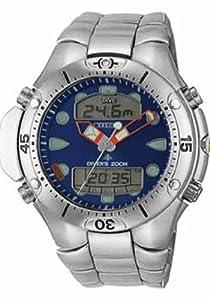 Citizen JP1060-52L - Reloj analógico de cuarzo para hombre con correa de acero inoxidable, color plateado