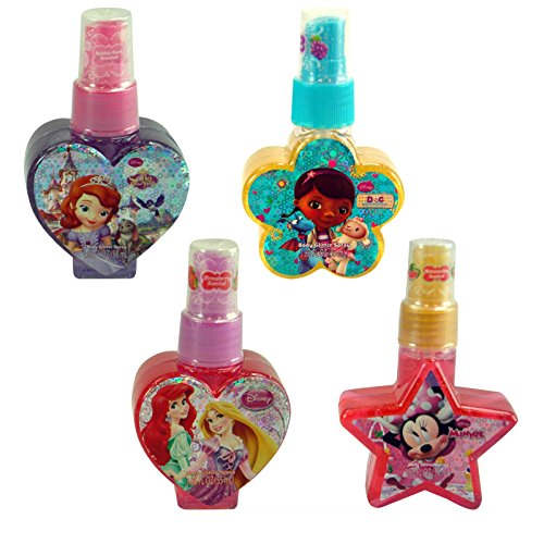 (4-Pack) Disney Girls Glitter Body Spray Gift Set Featuring Assorted Characters (Kids Body Spray compare prices)
