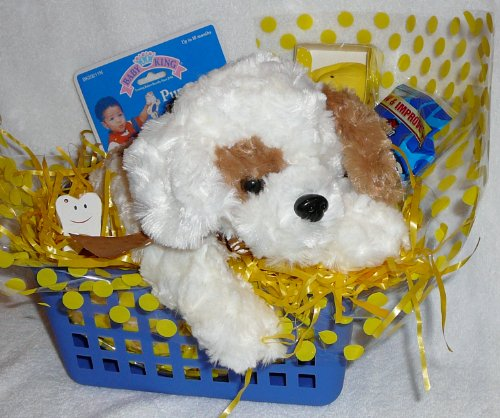 Cuddle Puppy Gift Basket
