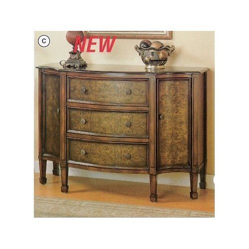 Buy Low Price All new item Marble top console table chest with metal stamped design fronts (AMB 950055)