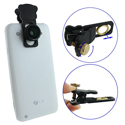 Ancerson Universal 3 In 1 Lens Camera Lens Kit 180 Degree Fish Eye+0.4X Macro Lens For Smartphones Mobile Phones: Iphone 3 3G 3S 4 4S 5 5C 5S, Samsung Galaxy S4 I9500/ S5 I9600/Note 2 N7100/ Note 3 N9000/ Mega 6.3 I9200/ Mega 5.8 I9152, Htc One M7/ X/ Max