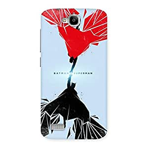 Ajay Enterprises Wo Day Vs Knight Punch Back Case Cover for Honor Holly