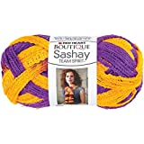 Coats Yarn Red Heart Boutique Sashay Team Spirit Yarn, Purple/Gold