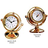 Weems & Plath Clipper Gimballed Quartz Clock and Barometer