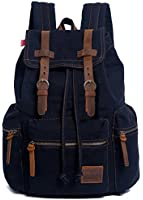 EcoCity Vintage Canvas Backpack Rucksack Casual Daypacks