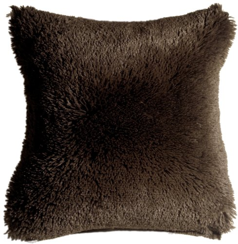 Pillow Decor - Soft Plush Brown 20x20 Throw Pillow