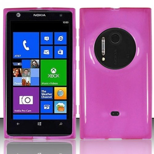Lf Pink Tpu Gel Case Cover, Lf Stylus Pen And Wiper For At&T Nokia Lumia 909 Elvis / Eos