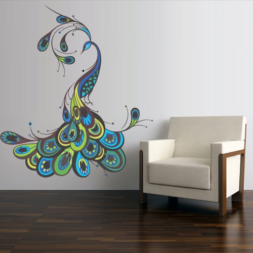 peacock wall art home decor xpressionportal peacock wall decal www galleryhip com the hippest pics