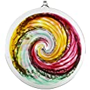 Kitras Van Glow Hanging Sun Disc Glass Ornament, Pink/Green