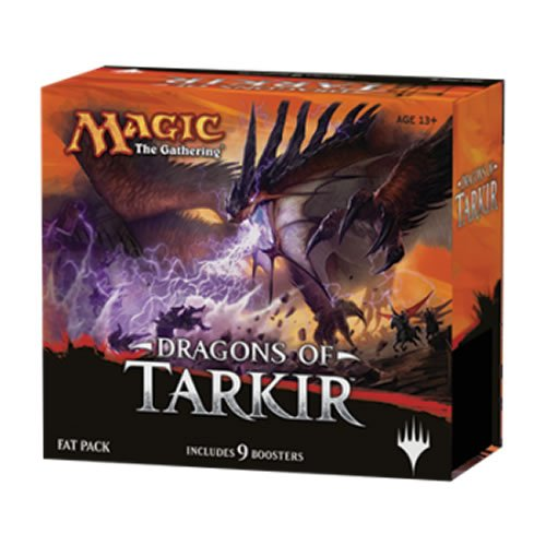 Magic: the Gathering: Dragons of Tarkir Fat Pack (Factory Sealed Includes 9 Booster Packs & More) (Magic Cards Fat Pack compare prices)