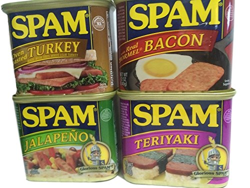 Spam Flavors Turkey, Bacon, Jalapeno, and Teriyaki 4-Pk (Hormel Canned Turkey compare prices)