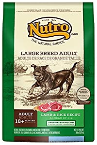 The Nutro Company Large Breed Adult Dog Food with Lamb and Whole Brown Rice Formula, 30-Pound
