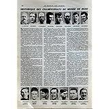 MIROIR DES SPORTS (LE) N? 52 du 30-06-1921 LE TOUR DE FRANCE CYCLISTE - LE MATCH CARPENTIER - DEMPSEY - HISTORIQUE...