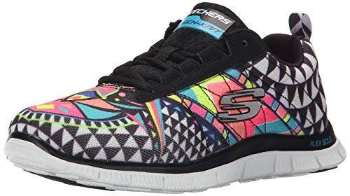 skechers-flex-appeal-arrowhead-zapatillas-de-deporte-mujer-negro-37