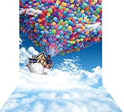 Ouyida Two people flying Pixar 10X15FT(300X450CM) Pictorial cloth Customized photography Backdrop Background studio prop GQ42