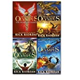 Rick Riordan Heroes of Olympus Collection 4 Books set By Rick Riordan. (The Lost Hero The Son of Neptune The Mark of Athena [hardcover] The Demigod Diaries)