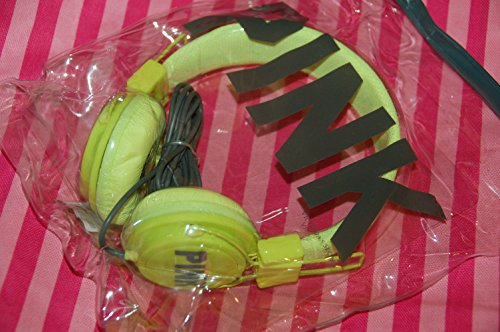 Victoria'S Secret Pink Dj Headphones Pink Print Yellow Color Brand New